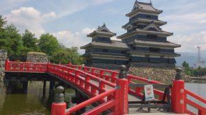 松本城 赤い橋
