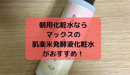 朝用化粧水のおすすめは肌楽米発酵液化粧水!保湿感が高いから夜も使ってます